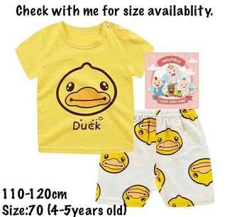 Baju Baby T-shirt set unisex
