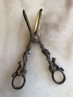 Victorian Sterling Silver Grape Shears