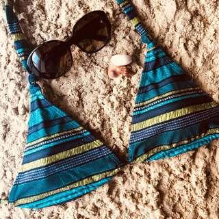 Blue pattern bikini