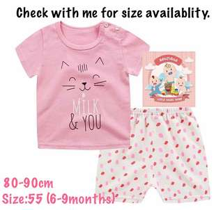 Baju baby T-shirt set