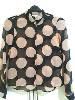 US brand Limited Polka Dot Top