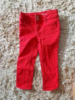 GAP BABY GIRL RED JEANS