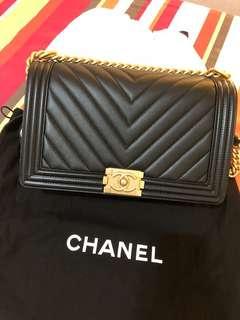 Boy Chanel chevron bag