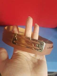 Belt ikat pinggang coklat muda