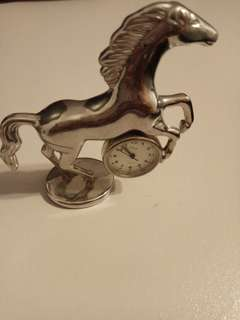 Horse table clock