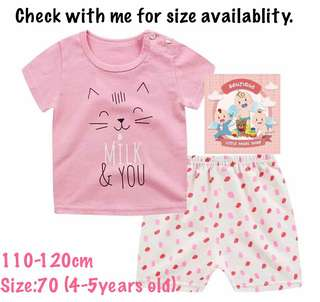 Baju baby T-shirt set