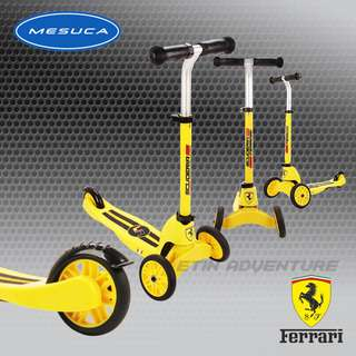 MESUCA Multi-Function kid scooters Ferrari Yellow/ Red