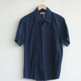 X(S.M.L) Men's Shirt Navy Blue
