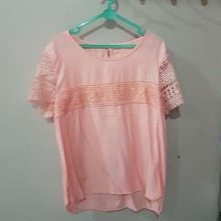 SALE blouse peach