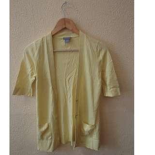 Ann Taylor yellow cardigan