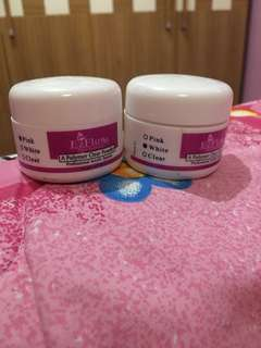 White and Pink EZ FLOW (arcylic powder)