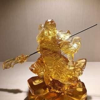 Guan Gong 琉璃 Statue