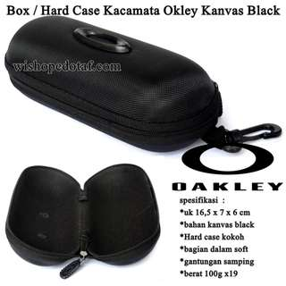 Grosir Box / Hard Case Kacamata Okley Kanvas Black
