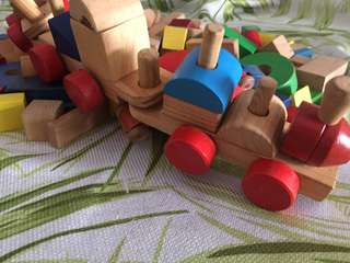 Wooden Toys blocks, playtime  building