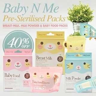 Baby N Me - Baby Food Storage Bag 30 pcs pack