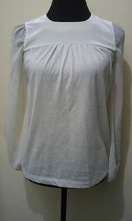 WA672 B+AB Off White Blouse (Medium) - see pics for Measurements