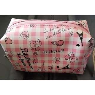 韓國購入 拉拉熊 RILAKUMA 化妝包 女包 錢包 收納包 筆袋