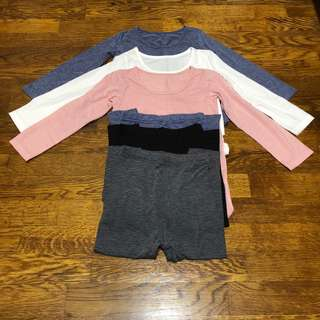 New Uniqlo Heattech TOP and bottom for toddler baby boy girl