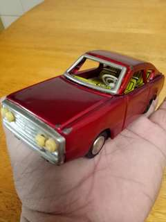 Antique tin toys red car 80s