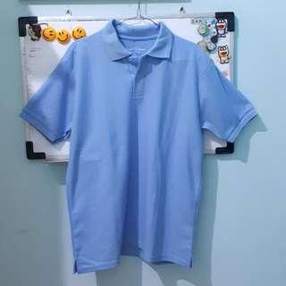 Shirt Man Polo Unisex Biru Muda