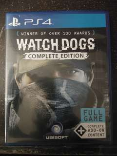 Ps4 Game Watch Dogs complete edition