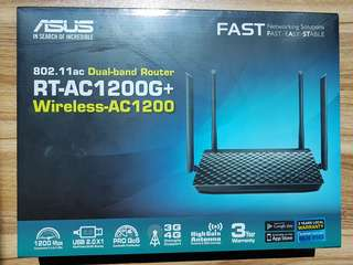 Asus Wireless Router RT-AC1200G+ (New and Sealed with 3 yrs local warranty)