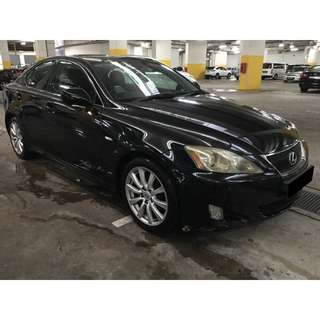 25/05/2018 - 28/05/2018 LEXUS IS250 ONLY $270 (P PLATE WELCOME)