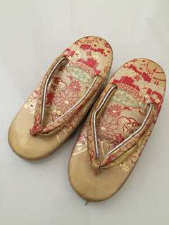 Traditional Japanese shoes with little bells