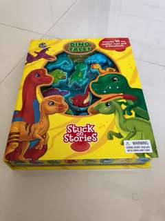 Baby dino tales suction cups book