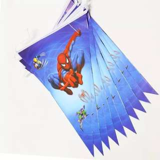 💥 Superheroes Spiderman party supplies - party banner / party bunting / party deco