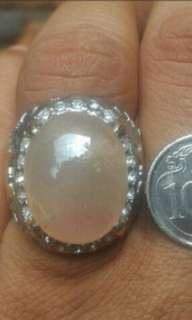 Sapphire stone (bigsize stone) & Akar Bahar ring