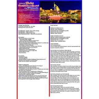 Dubai Post Christmas Package via Cebu Pacific