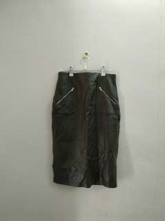 Zara skirt faux leather size m