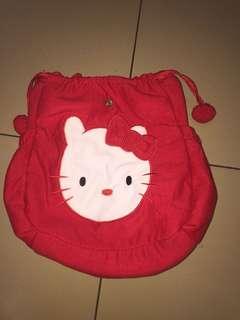 Red Hello Kitty Sling Drawstring Bag