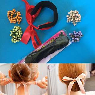 🆕 Bow hair bun maker
