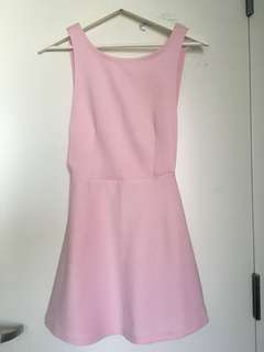 Pink A-line Side-cut Dress