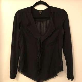 T. Babaton silk shirt