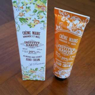 Institut Karite Almond & Honey Hand Cream 30ml
