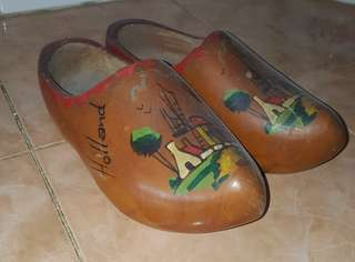 antique Holland wooden clogs shoes