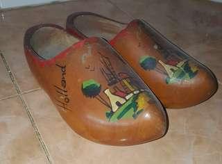 antique Holland wooden clogs shoes