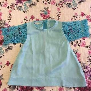 BBD Dress in Baby blue (1-2yo)