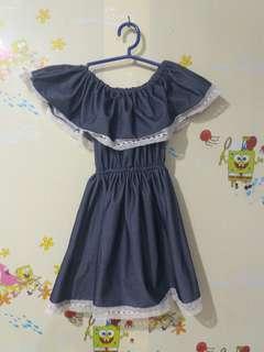*kids* off shoulder dress