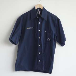 Navy Blue Men's Shirt Short