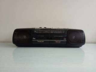 Panasonic FM Radio And Two Cassettes Player All In Working