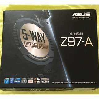Intel Core i5-4690K CPU with Asus Z97-A motherboard