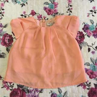 Baby Poney Peach top (1yo)