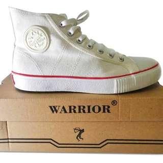 Sepatu warrior putih high and low original