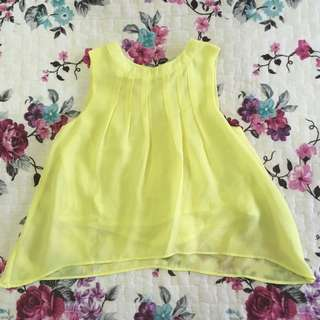 Baby Poney Pastel yellow top (1yo)