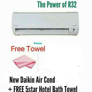 New Daikin Air Cond 2.0hp + Gift.