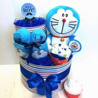 Ready Stock- 2-tier Doraemon Diapers Cake